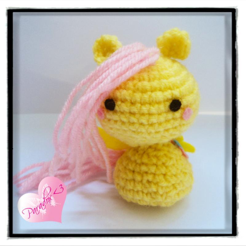Handmade Crochet Fluttershy My Little Pony Paradoxheart