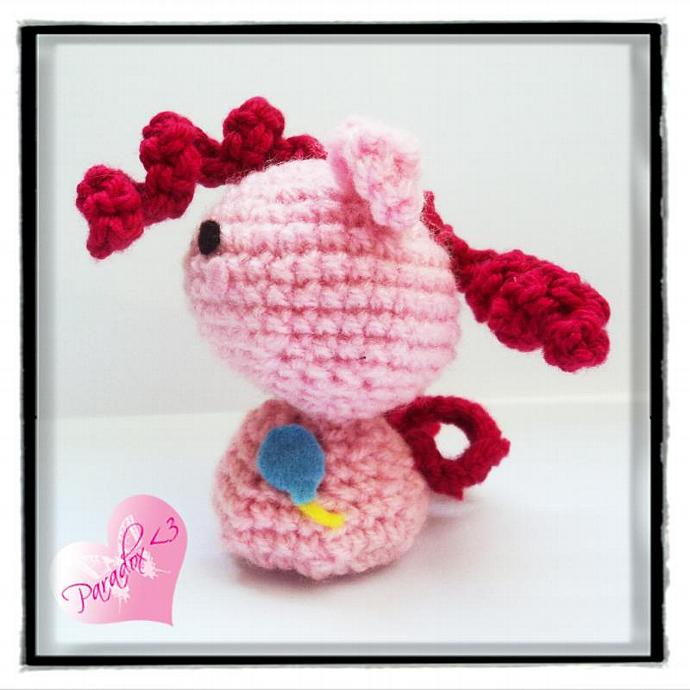 Handmade Crochet Pinkie Pie My Little Pony Amigurumi Toy Plush Kawaii Japan MLP