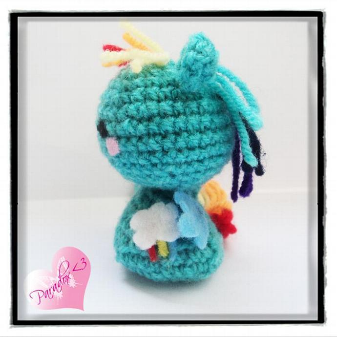 Handmade Crochet Rainbow Dash My Little Pony Amigurumi Toy Plush Kawaii MLP