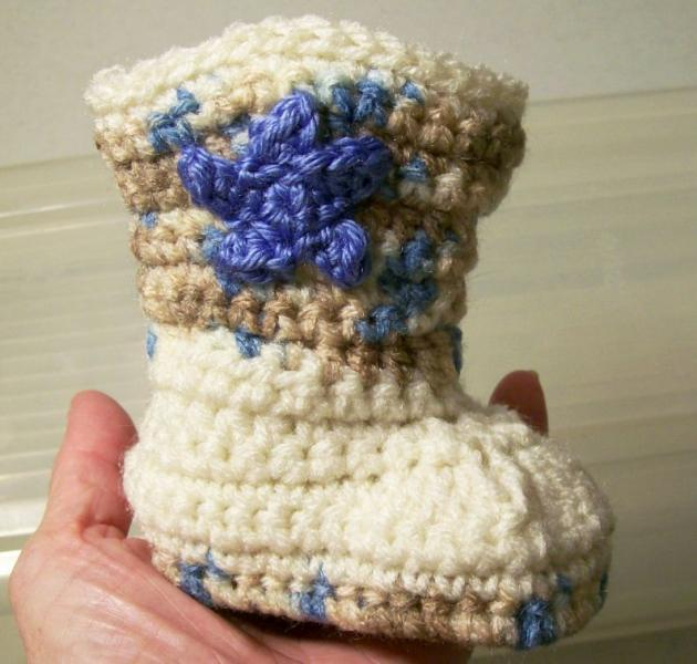 Baby Cowboy Boots Ecru With By Fabricsanddesignsbybarb On Zibbet