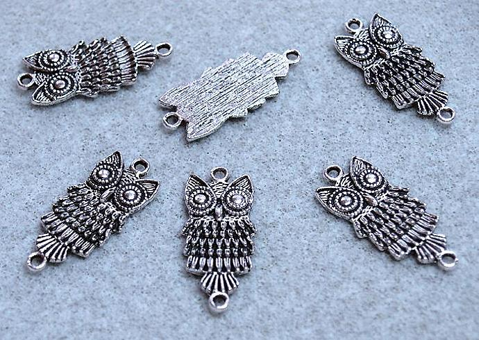 The Silver Owl- charms - pendants