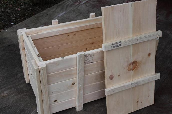 Wood Storage Box. Storage Crate. Wood Box With Lid.