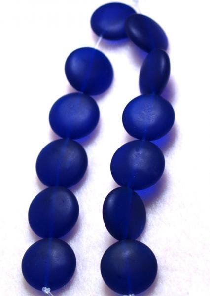 Blue Glow-recycled sea glass beads