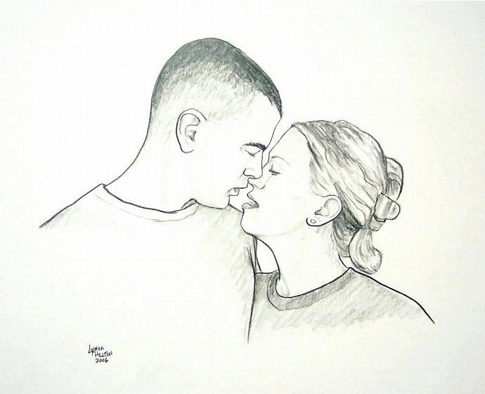 2 Face, Custom Portrait in Black and White