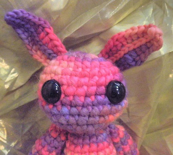 Pink and Purple striped bunny plush