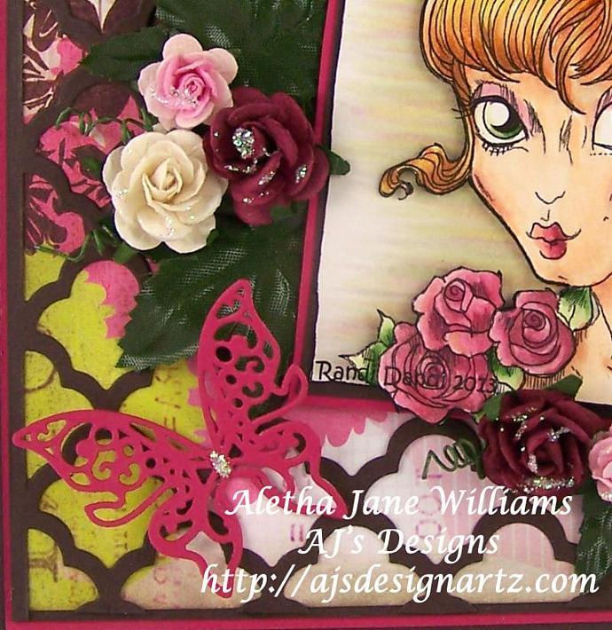 Summer Goddess handmade OOAK blank greeting card