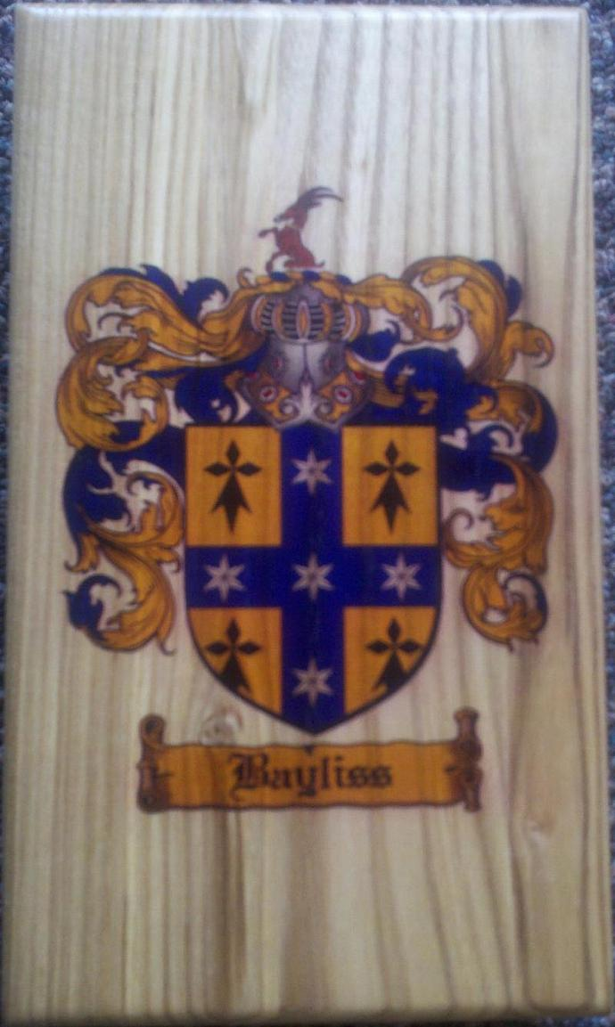 Coat of Arms / Family Crest Cribbage Board