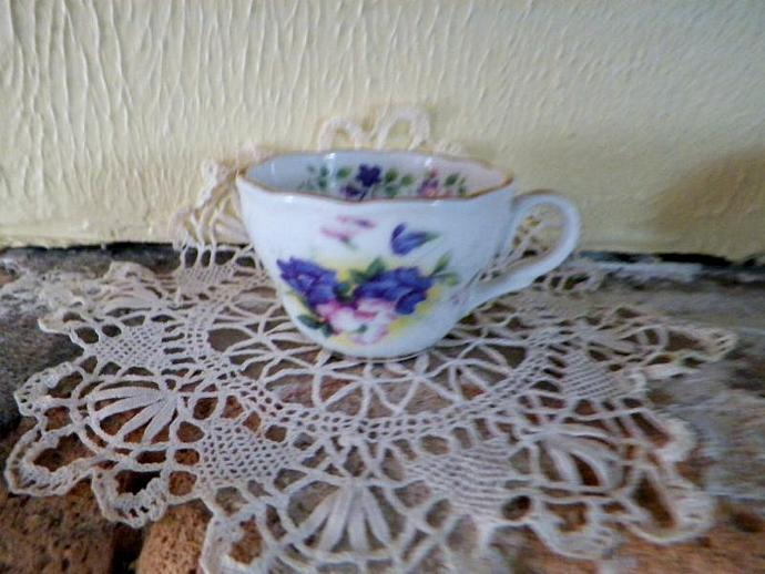 July Miniature Teacup