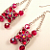 Red Hot Crystal & Rhinestone Swing Earrings