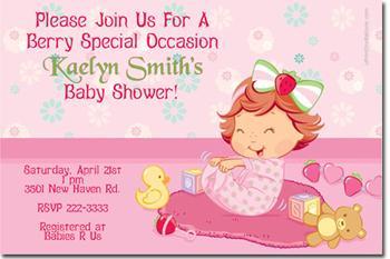 Baby Strawberry Shortcake Baby Shower By Uprintinvitations On Zibbet