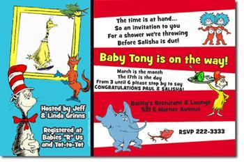 Dr Seuss Baby Shower Invitations Click By Uprintinvitations On Zibbet