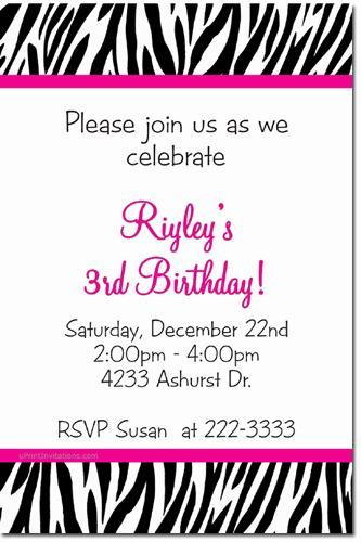 Animal Print Birthday Invitations (ANY COLOR SCHEME) click for add'l