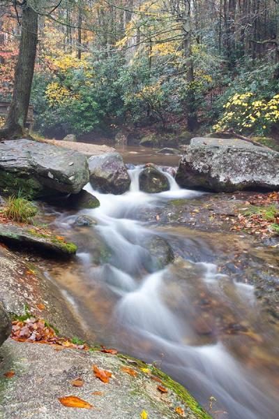 Waterfalls on Roaring River At Stone Mountain A North Carolina State Park Fine