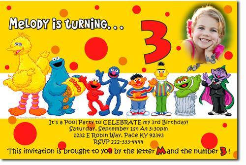 Sesame Street Birthday Invitations By UPRINTinvitations On Zibbet