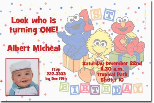 Sesame Street Birthday Invitations **DOWNLOAD JPG IMMEDIATELY**