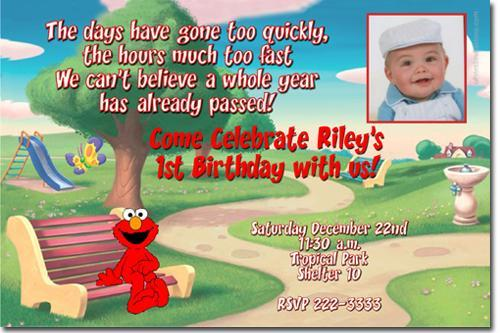 Elmo Birthday Invitations (click for additional designs)