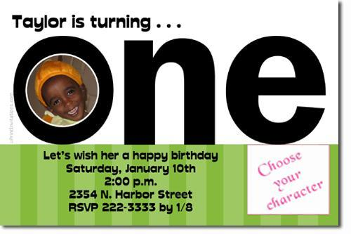 1st Birthday Invitations (ANY COLOR SCHEME) **Download Immediately**