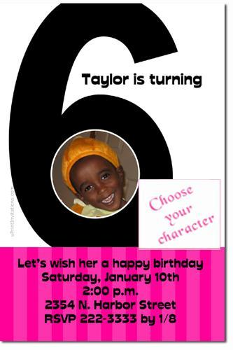 6th Birthday Invitations (ANY COLOR SCHEME)  **Download Immediately