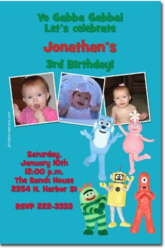 Yo Gabba Gabba Birthday Party Invitations (click for additional design