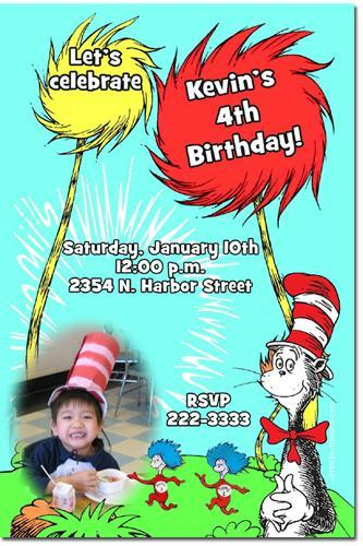 Dr Seuss Birthday Invitations (click for additional designs)