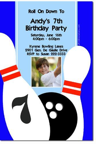 Bowling Party Birthday Invitations **DOWNLOAD IMMEDIATELY**  (click for