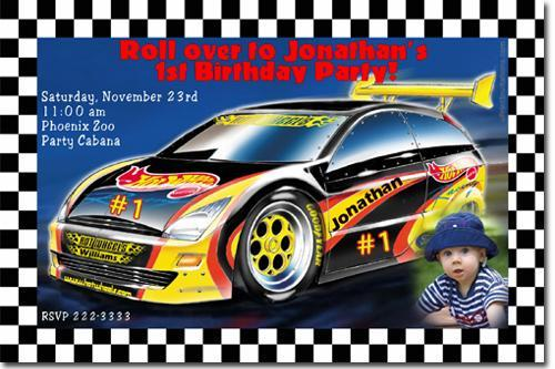 Hot Wheels Birthday Invitations Click By Uprintinvitations On Zibbet
