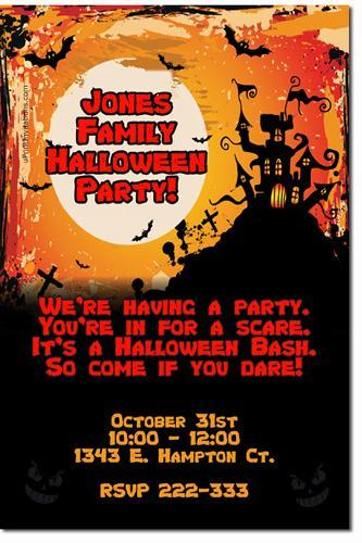 Halloween Party Invitations click for add'l * Download JPG *