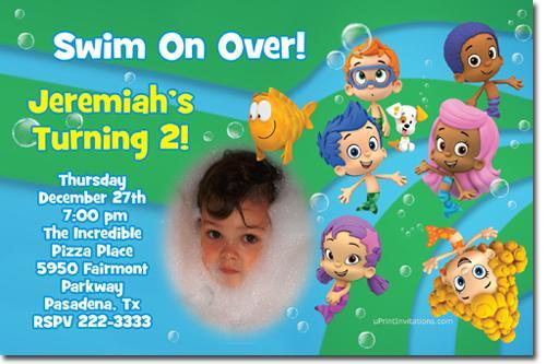 Bubble Guppies Birthday Invitations  (Download JPG Immediately)