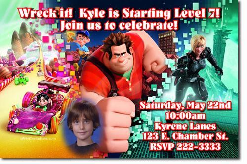 Wreck It Ralph Birthday Invitations (Download JPG Immediately)