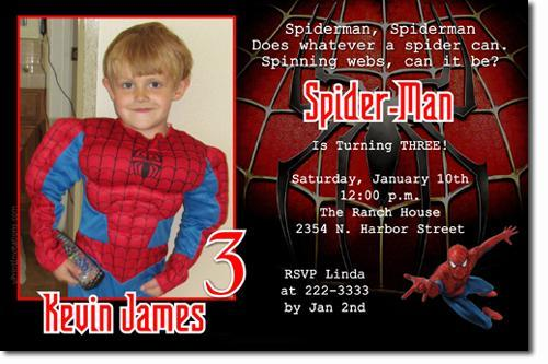 Spiderman Birthday Invitations Click