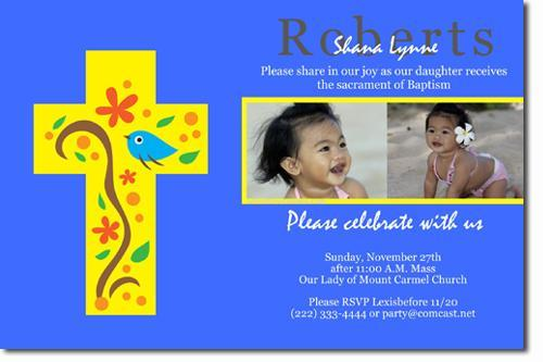 Baptism Invitations (ANY COLOR SCHEME) (Download JPG Immediately)