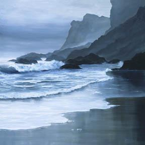 """Soft Solitude"" Giclee Paper Print Seascape by Carol Thompson"