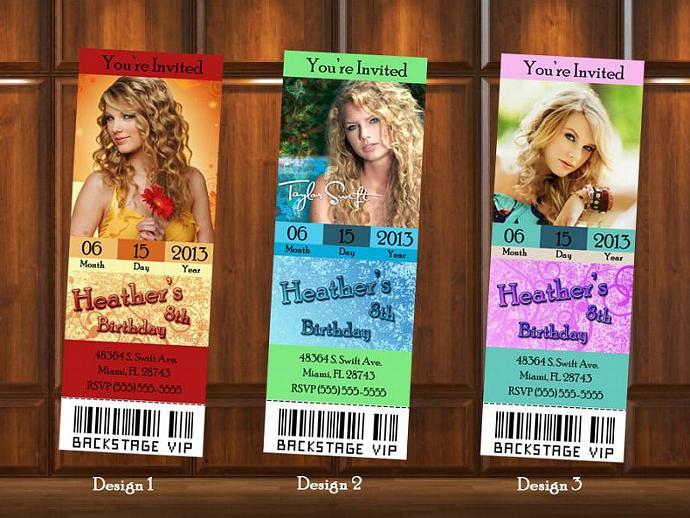Taylor swift ticket stlye birthday kustomkreations taylor swift ticket stlye birthday invitation digital file filmwisefo