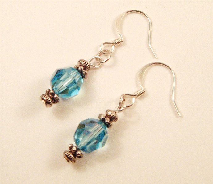 Aquamarine Crystal Earrings
