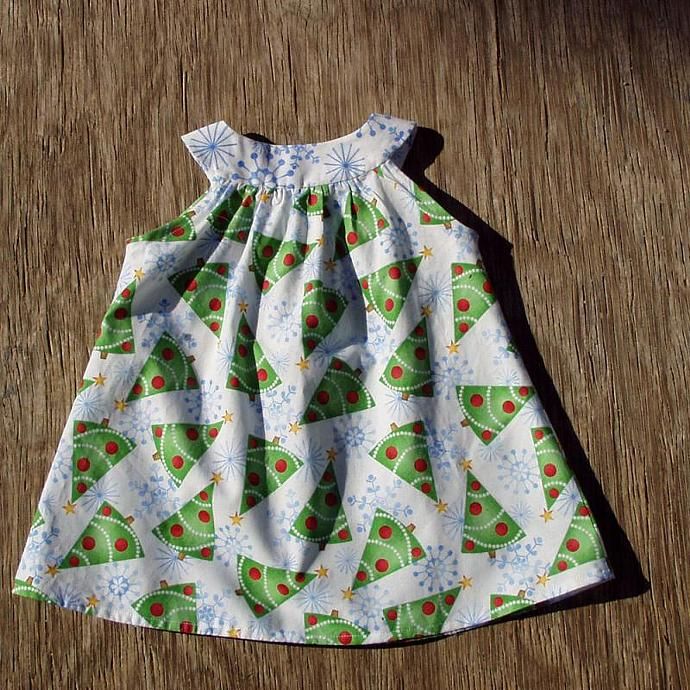 Christmas Tree Dress, size 6 months