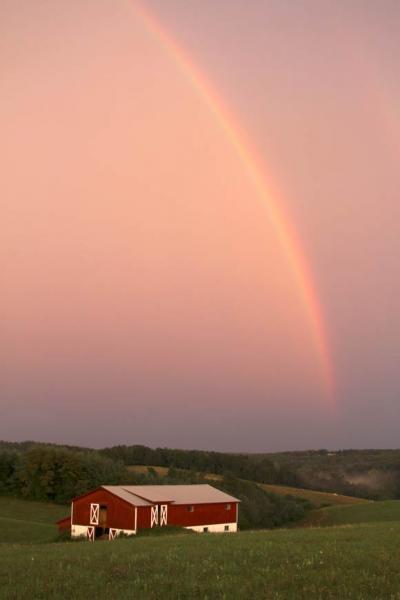 A Rainbow Over Roaring Gap North Carolina