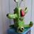Green Baby Monster-clay folk art sculpture