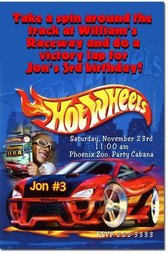 Hot Wheels Birthday Invitations (click for additional designs)