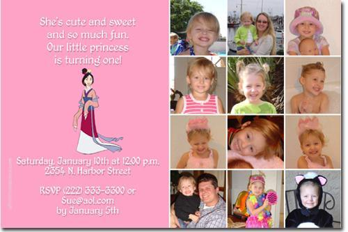 MULAN BIRTHDAY INVITATIONS (click for additional designs)