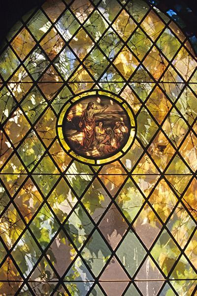A Stained Glass Window Fine Art Photo Fall Foilage Fine Art Print Spiritual Art