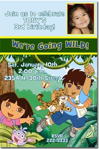 Diego And Dora Birthday Invitations By Uprintinvitations On Zibbet