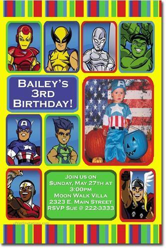 Hulk Birthday Invitations (click for additional designs)