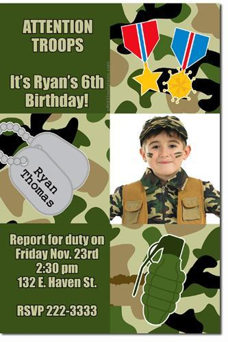 Call of Duty Modern Warfare Birthday Invitations (Download JPG NOW)