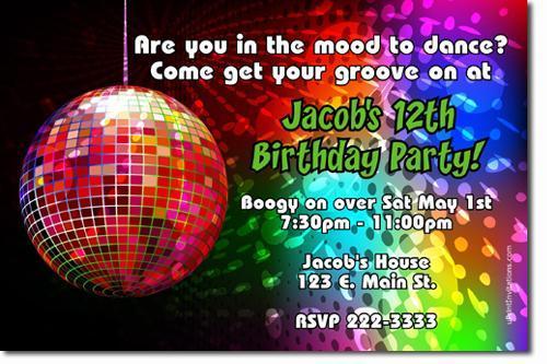 70's Disco Dancing Fever Birthday Invitations ADD'L DESIGNS *Download*