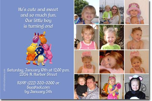 Backyardigans Birthday Invitations (click for additional designs)