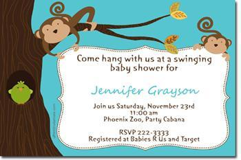 Monkey baby shower invitations click by uprintinvitations on zibbet monkey baby shower invitations click for addl designs filmwisefo