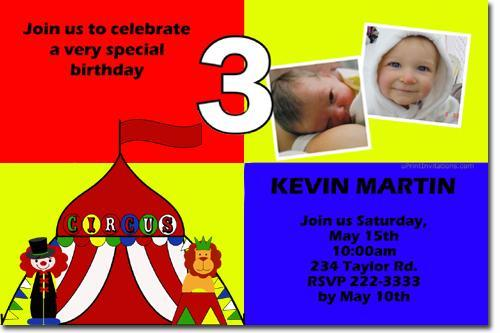 Babyface 181 With CLIPART Birthday Invitation ALL COLORS