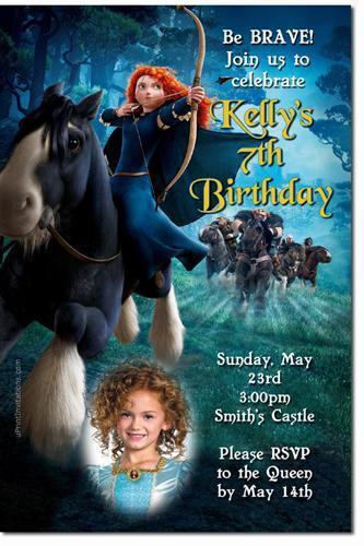 Brave Birthday Invitations (Download JPG Immediately)