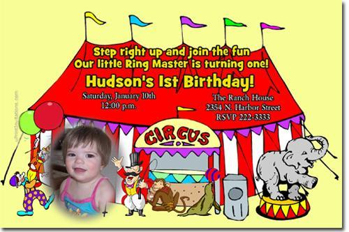 Clown Birthday Invitations -click for add'l designs (Download JPG NOW)