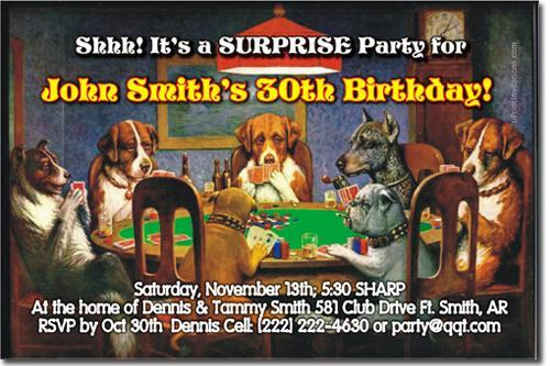 Casino Birthday Invitations click for add'l designs (Download JPG NOW)